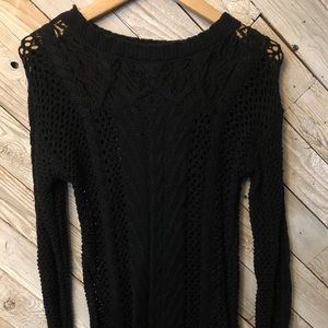 Knit With Lace Sweater by Maurices